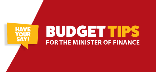 Budget 2020: Tips for Tito – Make Your Voice Count!